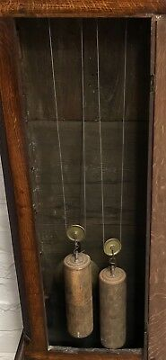 * Antique Somerset 8 DAY Inlaid Oak Grandfather Longcase Clock SULLEY of STOWEY 6