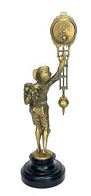 German Style Junghans Brass Onion Body Figure 8 Day Swinging Swinger Clock 3