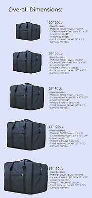 Square Travel Duffle Bag Bolsa Maleta de Lona 20 50 70 100 150 Lb Luggage Tote 2