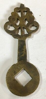 Antique 17th / 18th Century Brass Lantern Longcase Grandfather Clock Finger Hand 4