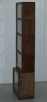 Circa 1930'S Limed Oak Modular Minty Oxford Antique Stacking Legal Bookcase 12