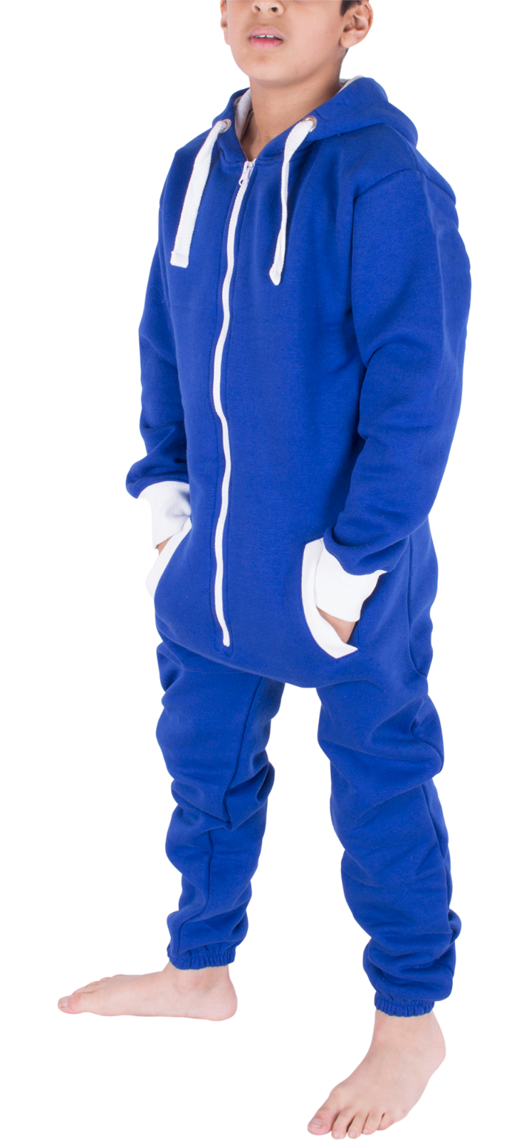 Kids Boys Girls Plain Hooded 1Onesie All in one Jumpsuit Playsuit Sizes 7-13 YRS 8
