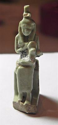 Zurqieh - Af1778- Ancient Egypt. Large Isis Nursing Horus Amulet 600 B.c