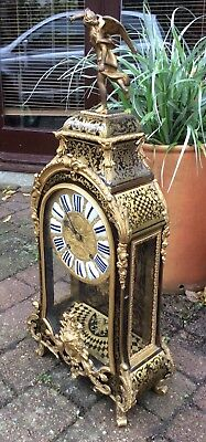 Huge 17th / 18th Century French Louis XIV Boulle Cartel Bracket Clock. Not fusee 12