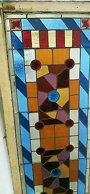 Antique Eastlake Victorian stained glass window. 9