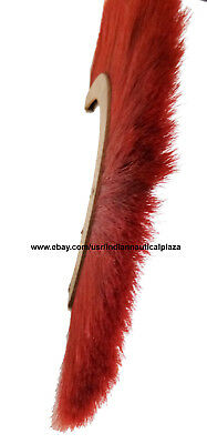 RED PLUME CREST BRUSH Natural Horse Hair For ROMAN ARMOR HELMET