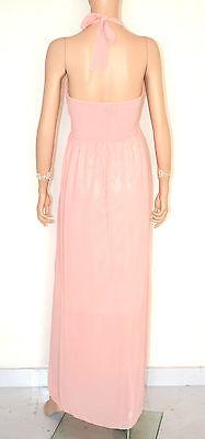 Vestiti Eleganti Rosa Antico.Vestito Rosa Cipria Donna Abito Lungo Strass Seta Elegante Cerimonia Dress E130