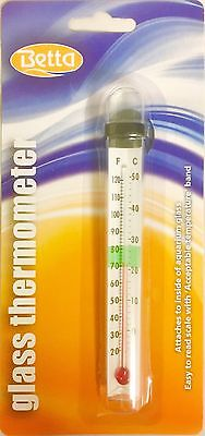 Betta Easy Read Aquarium Thermometer Fish Tank Temperature Tropical Marine Reef