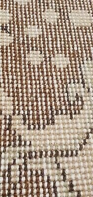 """Rare Antique 1940's Distressed Wool Pile Natural Dye Oushak Area Rug 3'7""""×6'8"""" 5"""