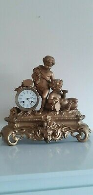 Large Antique ornate, French 8 Day bell striking mantle clock.Circa 1890's. 3