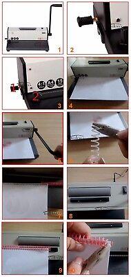 NotebooK Electric Inserter Manual Pouch Spiral Binding Spiral Coil Binder