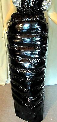 Lackdaunenrock,langer Daunenrock,doppellagig,Vinylskirt, Downskirt long