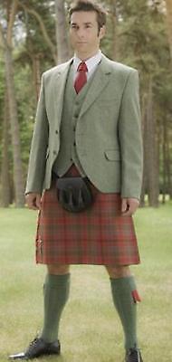 8 -10 ADULT lovat Green Kilt Socks 4 SPORRANS  also 4 Scout cubs  on SALE £9.99 2