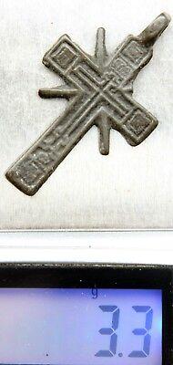 Ancient Russian Ortodox Bronze Cross Pendant (MAY80) 4