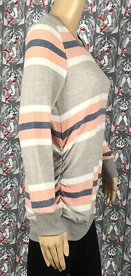 NWT Two Hearts Maternity Women's Multicolored Striped Sweater Top Size Large 2