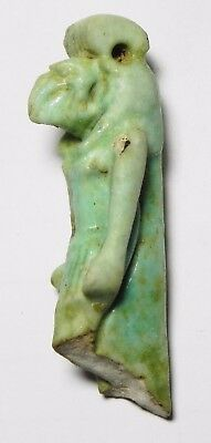 ZURQIEH -asw176- ANCIENT EGYPT , STUNNING LARGE THOTH AMULET. UPPER PART. 3