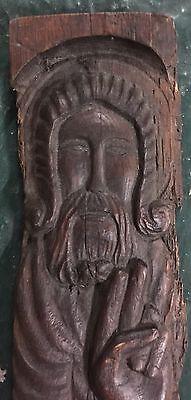 Original Antique Icon  wood St.Nikola 17-18 century maybe 15 century 2