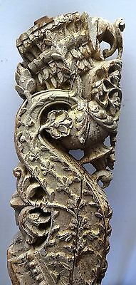 Bracket Wooden Carved Corbel Indian Vintage Mughal Art Architectural Collectible 5