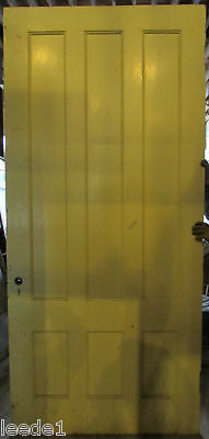 """Late 1800's Yellow Pine Door 6 Panel 8' x 44"""" x 1-7/8 Architectural Salvage 2"""