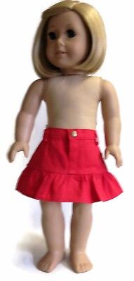 Red Ruffled Skirt made for 18 inch American Girl Doll Clothes