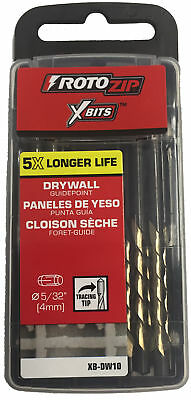 """10-Pack Roto-Zip X-Bits for Drywall - 5/32"""" Cutout Router Guide Point Bits"""