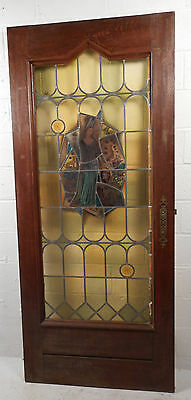 Tall Antique Vintage Stained Glass Art Door (1453)NJ 2