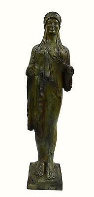 Caryatid Caryatis Kore bronze Ancient Greek aged Great statue sculpture artifact 8