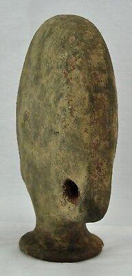 "Pre-Columbian terracotta pottery vessel / flask 10"". (BI#MK/171215) 3"