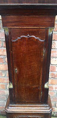 Beautiful Antique Oak And Mahogany Long Case GrandFather Clock 3