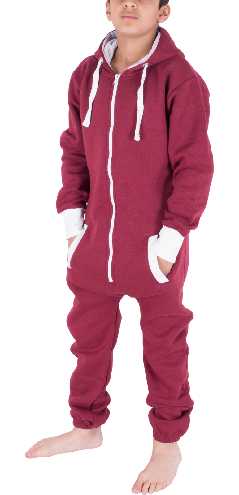 Kids Boys Girls Plain Hooded 1Onesie All in one Jumpsuit Playsuit Sizes 7-13 YRS 11