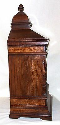 Antique Oak TING TANG Bracket Mantel Clock  Winterhalder & Hoffmeier W & H (a11) 7