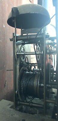 Antique Mahogany Rolling Moon Longcase Grandfather Clock G TOPHAM Congleton 11