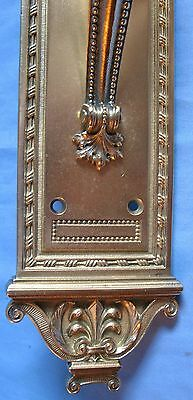 Antique Entrance Backplate 1(One) Solid Cast Brass Industrial Commercial Banks 4