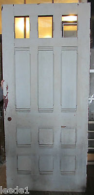 "Late 1800's Pine Door 9 Panel 7'5""' x 40-3/4"" x 1-3/4 Architectural Salvage 2"