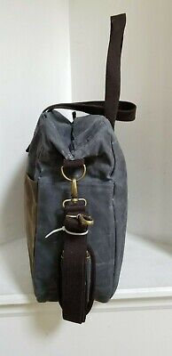 CB STATION Waxed Canvas Multi Pocket Travel Tote / Bag - NEW WITHOUT TAGS 6