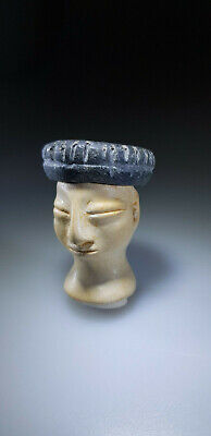 Bactrian Stone Head From An Idol Or Princess Figure, 3Rd-2Nd Millennium Bc 3