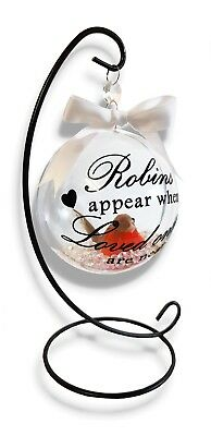 Robins Appear When Loved Ones Are Near Bauble Christmas Tree Decoration Memorial 5
