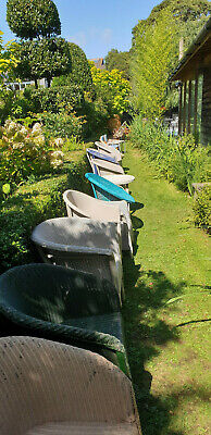 Kitsch mid century pair barrel chairs antique retro Part of collection for sale 12