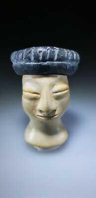 Bactrian Stone Head From An Idol Or Princess Figure, 3Rd-2Nd Millennium Bc 9