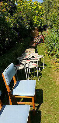 Kitsch mid century pair barrel chairs antique retro Part of collection for sale 10