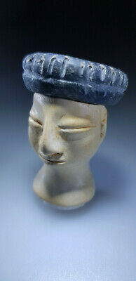 Bactrian Stone Head From An Idol Or Princess Figure, 3Rd-2Nd Millennium Bc 10