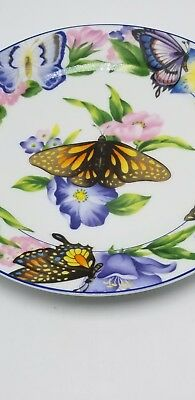 """American Atelier """" Butterfly"""" Design-B Salad Plate 8"""" 2"""
