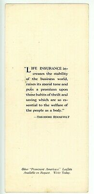 Political -THEODORE ROOSEVELT & CONNECTICUT MUTAL LIFE INSURANCE CO- Advertising 3