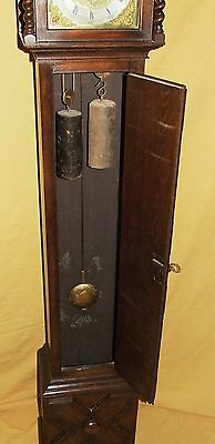Antique 8 Day Miniature Grandfather / Grandmother Clock : Weight Driven Movement 8