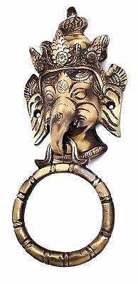 RELIGIOUS EDH Lord Ganesha Door Knocker Ganesh Collectibles Brass Home Decor