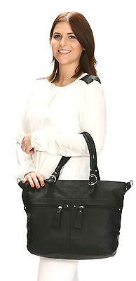Handtasche ALESSANDRO ETERNA Shopper Damentasche Büro DIN A4 Tasche Bag PETROL