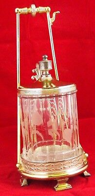 Victorian Pickle Castor, Mechanical Frame And Etched Insert 5