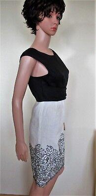1 sur 4 DERHY Ravissante robe lin chic Noir Blanc T.38 40 NEUVE Valeur 149 a5889d00a86