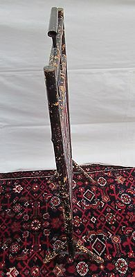 Beautiful Victorian Bamboo Antique Firescreen With Floral Glass Bead Work 4
