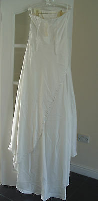 6 sur 10 NICHOLAS MILLINGTON Sunray Satin Wedding Dress Size 12 (DEFECT) 121522df6
